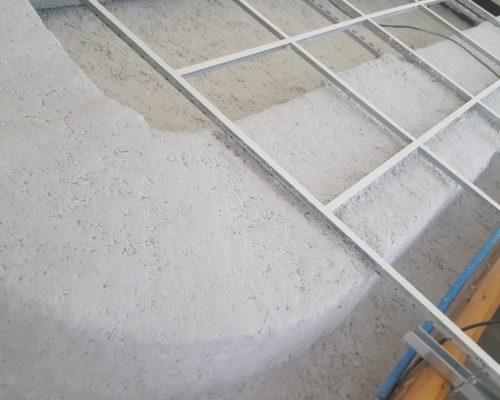Avant de mise en place de faux plafond